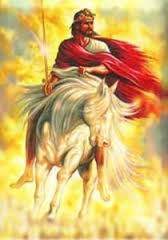 Christ returns on a white horse and every one will know who HE is..